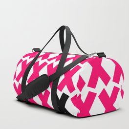 X Marks The Spot in Hot Pink Duffle Bag