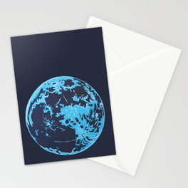 Turquoise Moon Stationery Cards