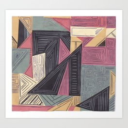 Lines and Shapes Art Print