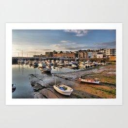 Paignton Harbour Art Print