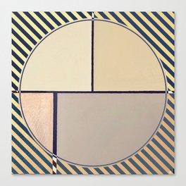 Toned Down- navy stripe Canvas Print