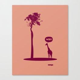 WTF? Jirafa bis! Canvas Print