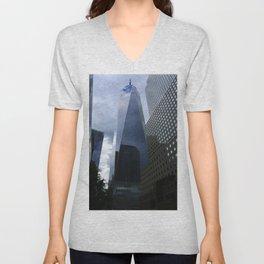 One World Trade Center View Unisex V-Neck