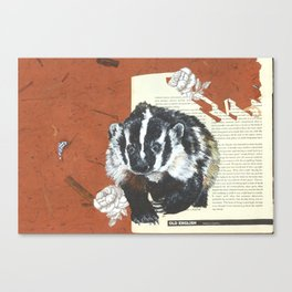 Old English Badger Canvas Print