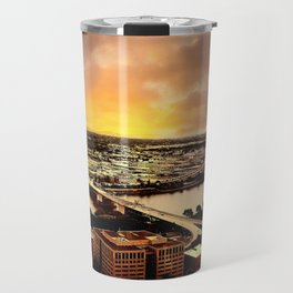 Downtown Portland Oregon Bridge View Travel Mug