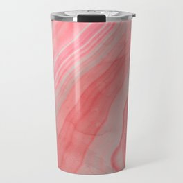 Coral Pink Agate Travel Mug