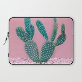 Cactus on Pink Wall Laptop Sleeve