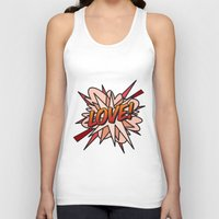 comic book Tank Tops featuring Comic Book LOVE! by Thisisnotme