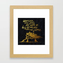 Wuthering Heights - Souls - Gold Foil Framed Art Print