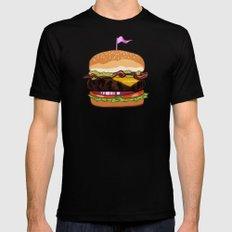 Bacon Cheeseburger MEDIUM Mens Fitted Tee Black