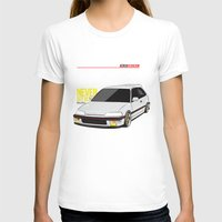 honda T-shirts featuring Honda Civic EF Hatchback by Nineties Customs