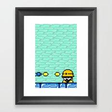 Minion's Last Rites: Mega Man's Metool Framed Art Print