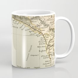 Vintage Retro Map Northern Italy Coffee Mug