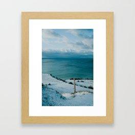 Winter at Voderup Klint Framed Art Print