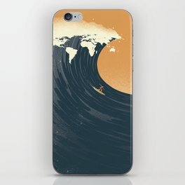 Surfing the World iPhone Skin