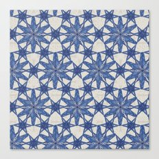 Delft snowflake Canvas Print