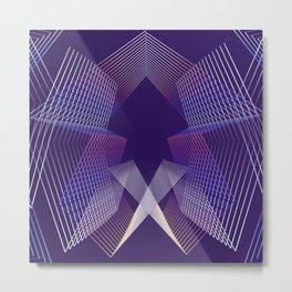 - Citylife - geometric futuristc art Metal Print