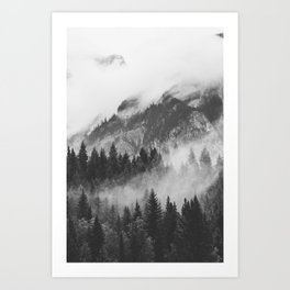 Vancouver Fog B&W Art Print