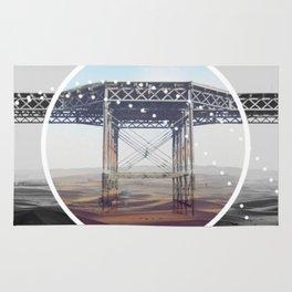 Surreal Bridge - circle graphic Rug