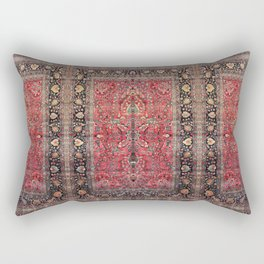 Antique Persian Red Rug Rectangular Pillow