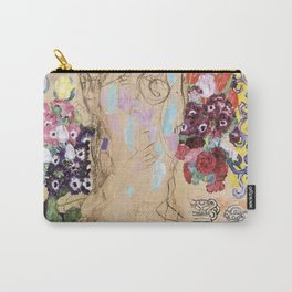 Gustav Klimt Portrait Of Maria Munk Unfinished Carry-All Pouch