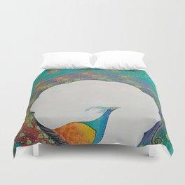 Peacock Modern Art Duvet Cover