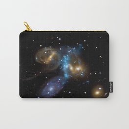 Stephan's Quintet of Five Galaxies in Constellation Pegasus Deep Space Telescopic Photograph Carry-All Pouch