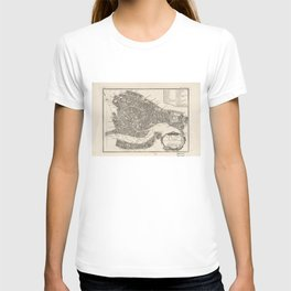 Vintage Map of Venice Italy (1764) T-shirt