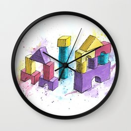 Toy Bricks Wall Clock