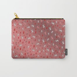 pink,silver,dollar, symbol in shiny metall textur Carry-All Pouch