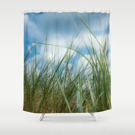 Dreaming in the grass pattern Shower Curtain