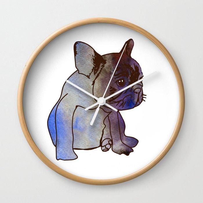 French Bulldog Puppy Cute baby Dog Wall Clock