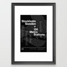 Always Create — Grid Series 02 (Black) Framed Art Print