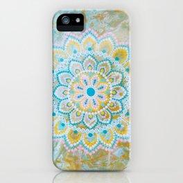 Dirty Pour w/ Mandala iPhone Case