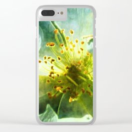 Yellow Rose Center with smokey overlay by CheyAnne Sexton Clear iPhone Case