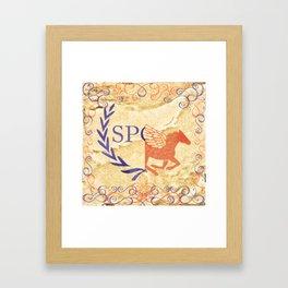 camp half blood jupiter in gold Framed Art Print
