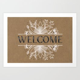 Lotus flower Welcome Art Print
