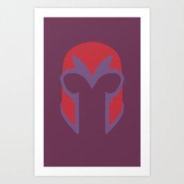 Magneto Helmet Art Print
