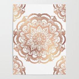 Mandala Rose-Gold Shine Poster