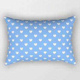 Hearts on Sky Blue Rectangular Pillow