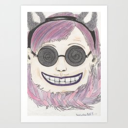 Cheshire cat as a human Art Print