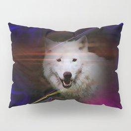 Full moon - Blood moon  fascination wolf Pillow Sham