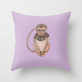 Stich & Fauna: Monkey Throw Pillow