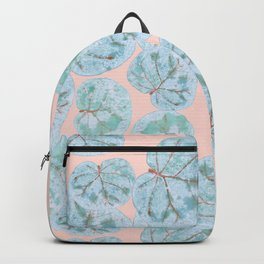 Tropical Sea Grape Leaves Backpack