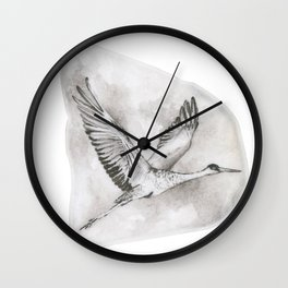 Sandhill Crane by annmariescreations Wall Clock