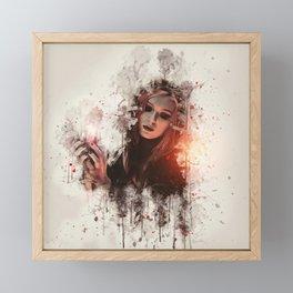 Beautiful Witch Framed Mini Art Print