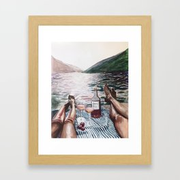 Aperitivo on Lake Como Framed Art Print