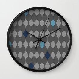Blue Lanterns Wall Clock