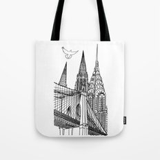 NYC Silhouettes Tote Bag