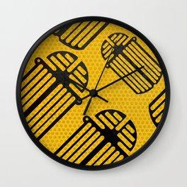 Scarab Pattern Wall Clock